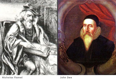 Nicholas Flamel and John Dee